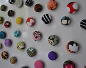 Fabric Button Magnets