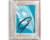 Peacock Initial Art