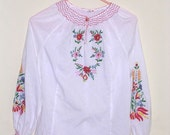 Hippy embroidered blouse