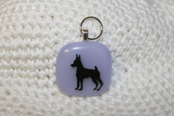 Lavender Miniature Pinscher Dog Tag or Pendant Customizble