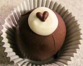 Tuxedo Chocolate Fudge Bon Bons with Hearts
