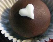 Chocolate Peanut Butter Bon Bons with Hearts