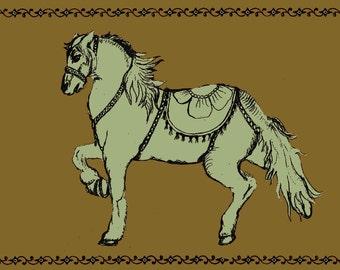 Hand drawn circus horse