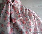 Vintage Blouse - 1990s Secretary PASTEL Floral Shirt