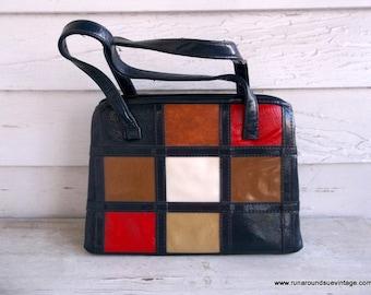 Vintage 1960s MOD Leather Purse