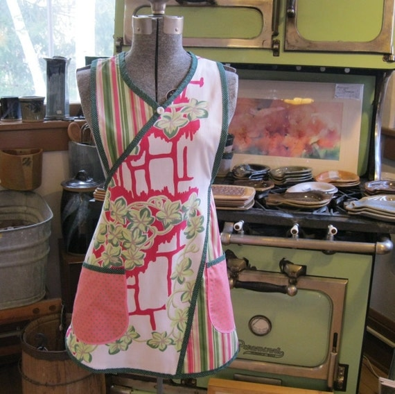 Apron made from vintage tablecloth