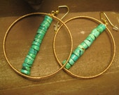 Turquoise Stacked Earrings