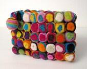 Swirly Pop Felt Purse by YUMMI ooooooo Unique beautiful fun colorful clutch purse messenger gift holiday custom bags oooooo