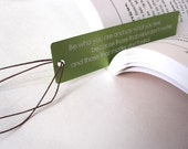 Laser Engraved Bookmark - Green Anodized Aluminum Dr. Seuss Quote Bookmark - Spring Gifts For Him For Her