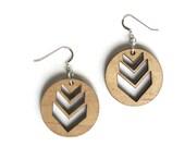 Laser Cut Earrings - Geometric Modern Chevron Jewellery - Summer Fashion Jewelry For Her