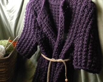 Eggplant cap sleeve sweater