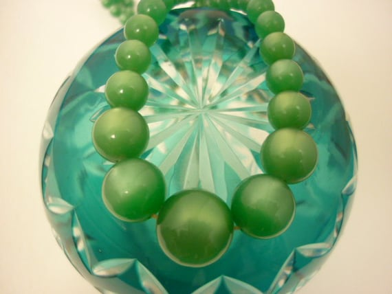 Luscious Sea Green Pearlized Necklace