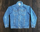 Mens 1970s Denim Jacket size M or L