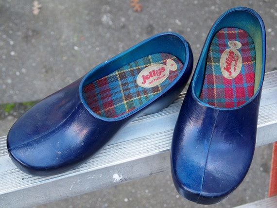 Jolly S Vintage German Rubber Clogs For Women Size 8