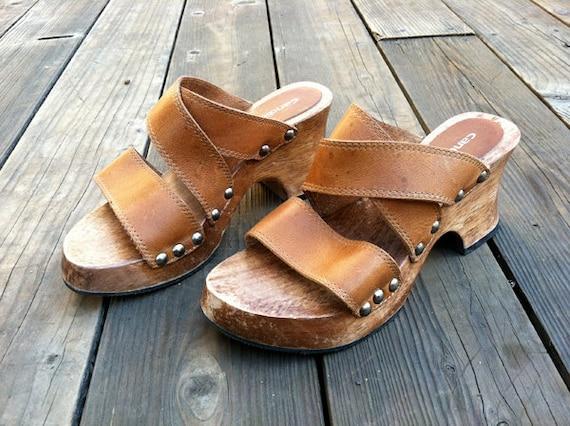 Candies Chunky Strappy Platform Sandals (women's 7)