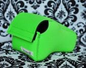 DSLR Camera Case - Lime Green / Black neoprene