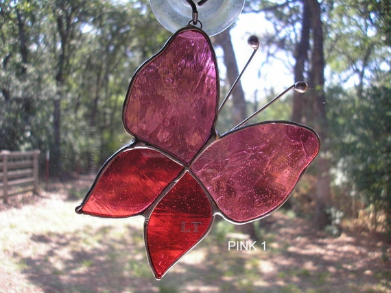 "LT Stained glass Butterflies ""Reserved for Kristin"""