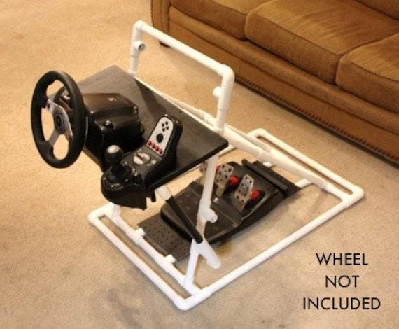 video game racing steering wheel stand for logitech g25 g27. Black Bedroom Furniture Sets. Home Design Ideas