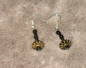 UFO Dangle Earrings Anique Gold Color - ON SALE