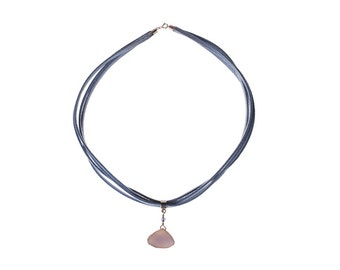 Baby Blue Chalcedony Drusy and Sterling Silver - If I'm a Star, He is the Sky - Free US shipping