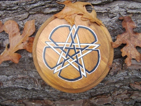 Pentacle Altar Tile - Knotted Pentacle