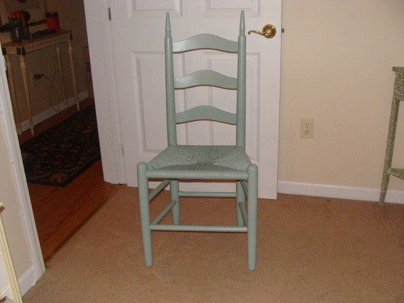 Beachy Painted Ladderback Chair
