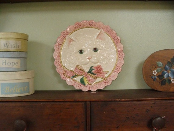 Fitz and floyd kitten and roses canape plate by pattisfinds for Fitz and floyd canape plate