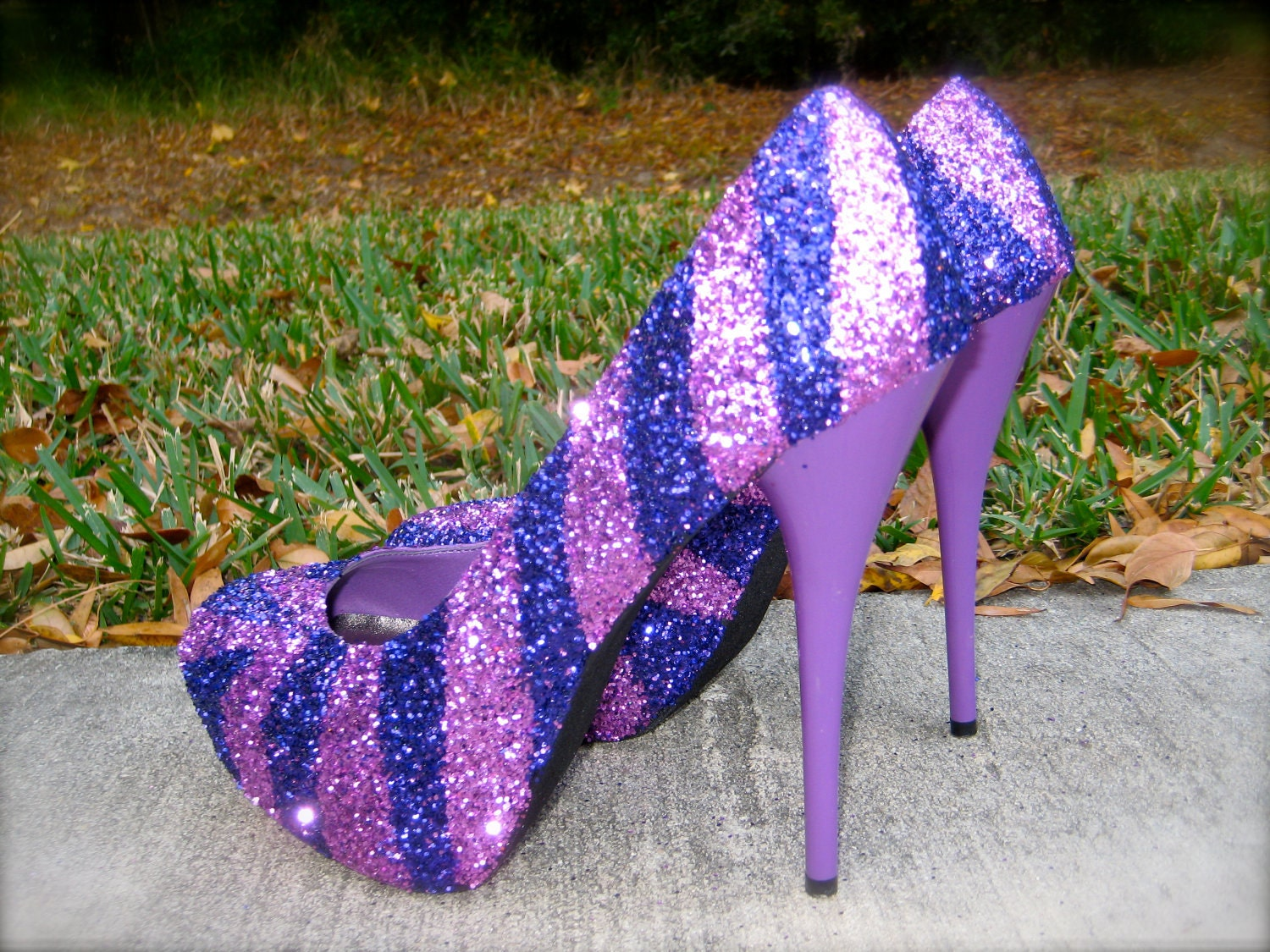 Purple Diamond Heels