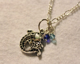 The Last Airbender Inspired Fish Necklace - Silver and Blue Koi Fish Necklace