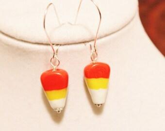 Candy Corn Earrings - Halloween Earrings