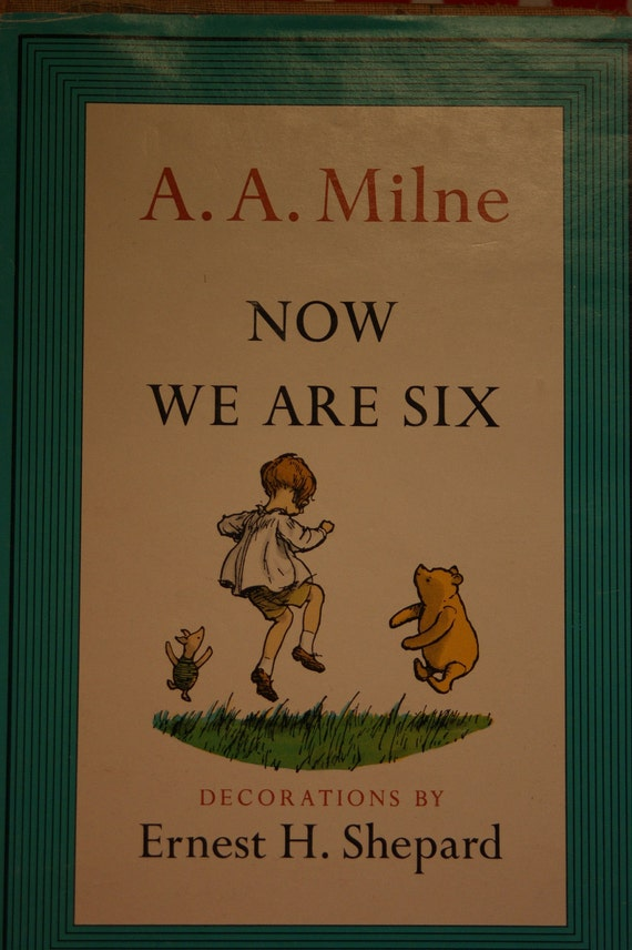 Set of A.A. Milne Books, When We Were Very Young (1946), Now We are Six (1961)