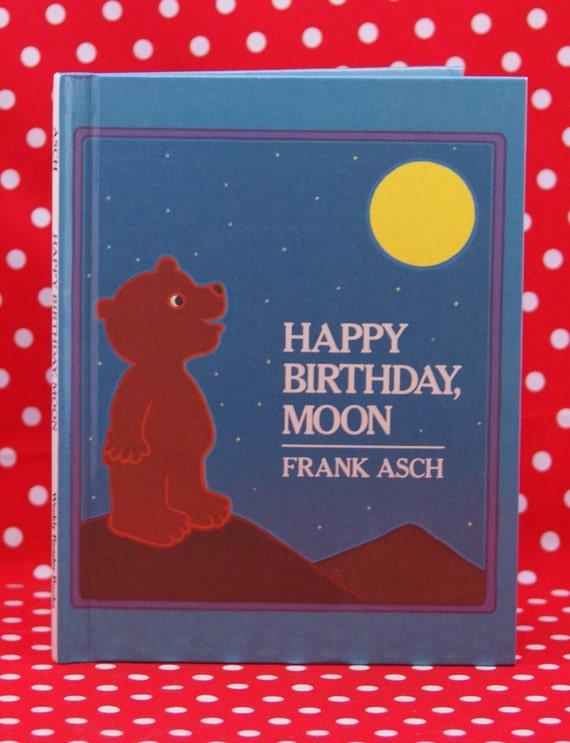 Vintage Children's Book, Happy Birthday Moon, Frank Asch, 1982