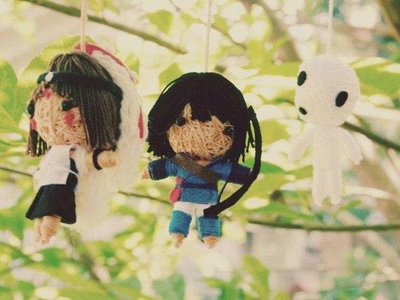 Princess Mononoke string doll set