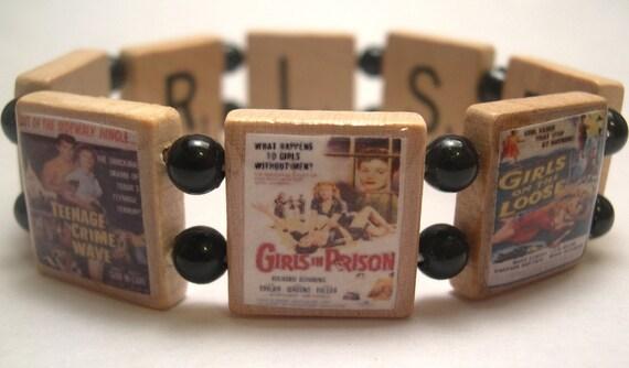 Bad Girls Scrabble Bracelet