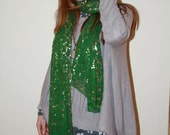 Sequin Green Scarf