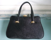 Handbag Black Leather Handbag Frame Opening SALE 50% Off