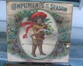 Cigar Box Merry Christmas
