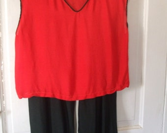 Costume Red Top Black Pants Costume Halloween School Play ON SALE 50 % Off