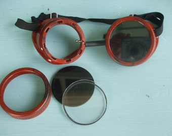 Welding Goggles - Antique - Steampunk Rare free U.S. shipping