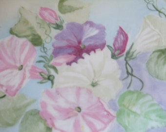 Plate Morning Glory Plate Vintage Haviland France Hand Painted ON SALE 50% OFF