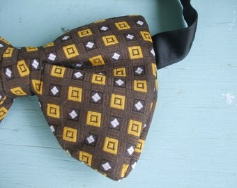 Bow Tie Brown Mustard Gold accents Wembley