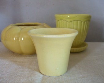 Yellow Flower Pot Vintage