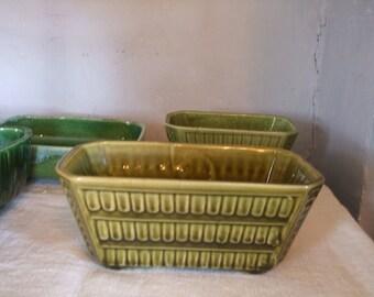 Vintage Planter Olive Green