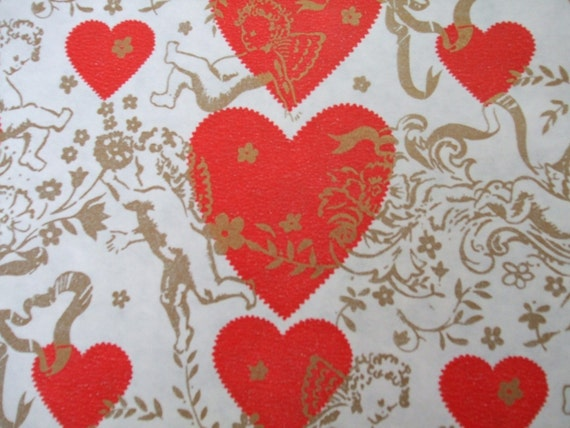 Valentine Wrapping Paper 32 Square Feet Vintage