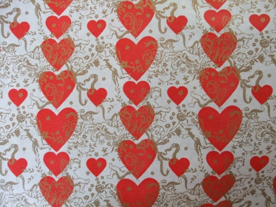 Valentine Wrapping Paper By The Lineal Foot Vintage