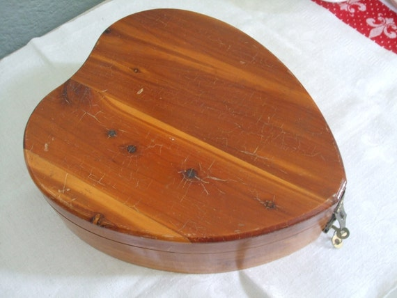 Heart Shaped Cedar Box Jewelry Box Love Letters