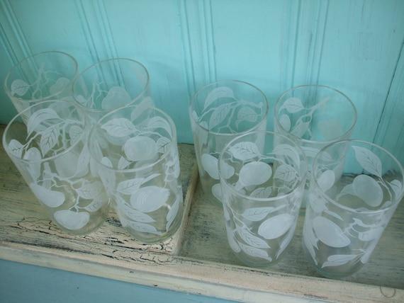 Apple Glasses Set of 8 Lemonade Ice tea