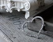 Vintage Rhinestone Heart