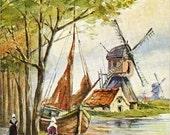 Vintage Postcard Holland 1943