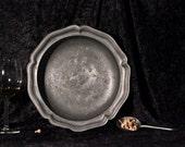 Antique Holland Pewter Bowl Vintage Holiday Decor
